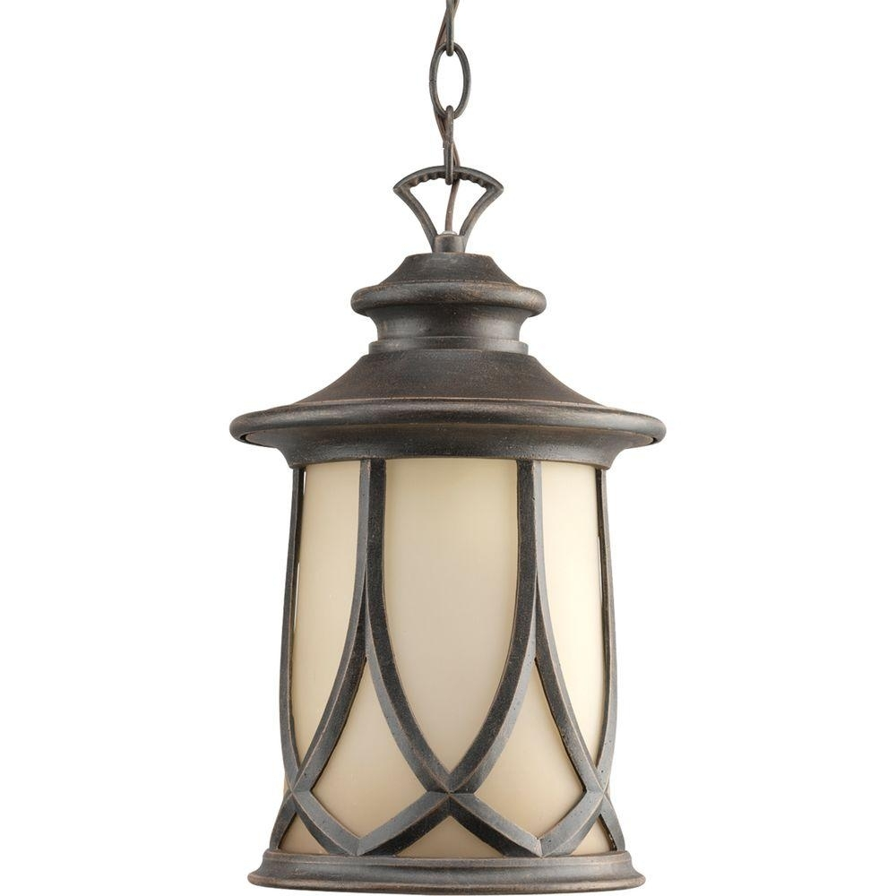 Progress Lighting Resort Collection 1 Light Aged Copper Outdoor With Outdoor Hanging Glass Lights (#11 of 15)