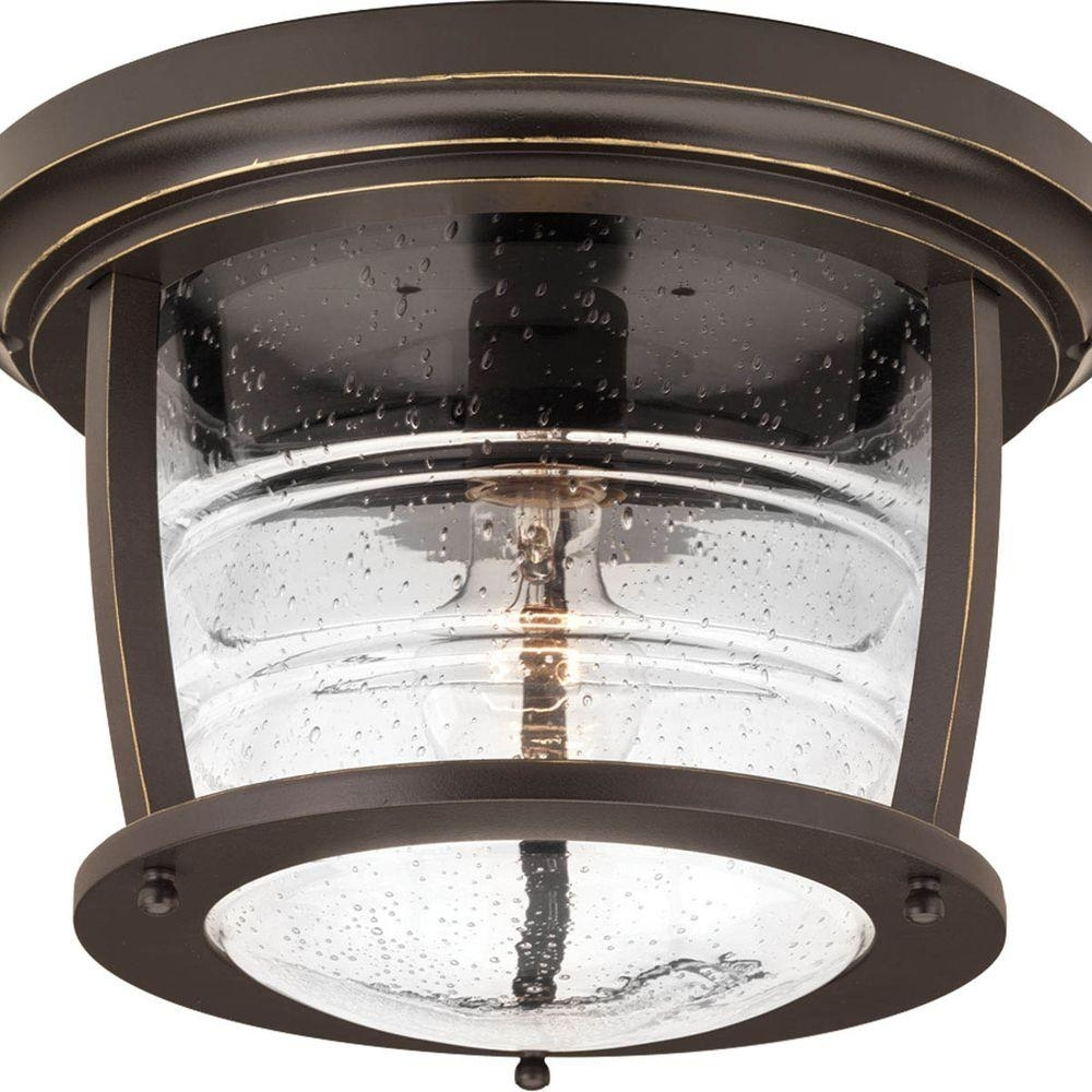 Inspiration about Progress Lighting Signal Bay Collection 1 Light Oil Rubbed Bronze Throughout Outdoor Ceiling Flush Lights (#12 of 15)