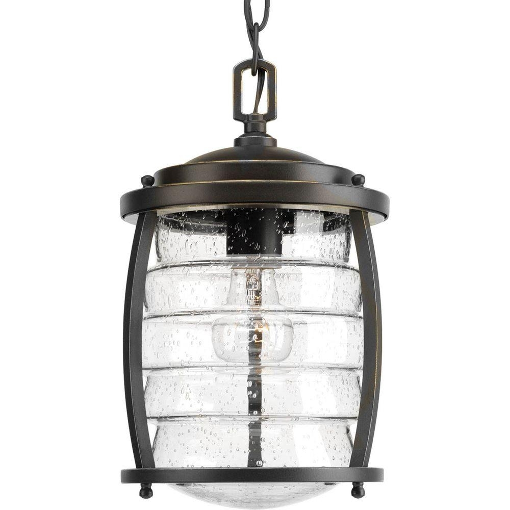 Progress Lighting Signal Bay Collection 1 Light Outdoor Oil Rubbed Intended For Outdoor Hanging Oil Lanterns (#12 of 15)
