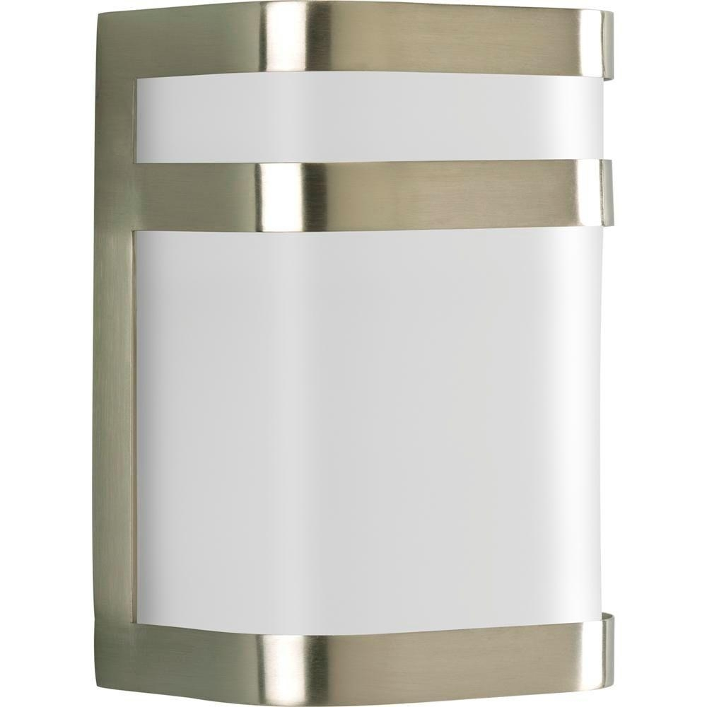 Inspiration about Progress Lighting Valera Collection 1 Light Outdoor Brushed Nickel Inside Nickel Outdoor Wall Lighting (#8 of 15)