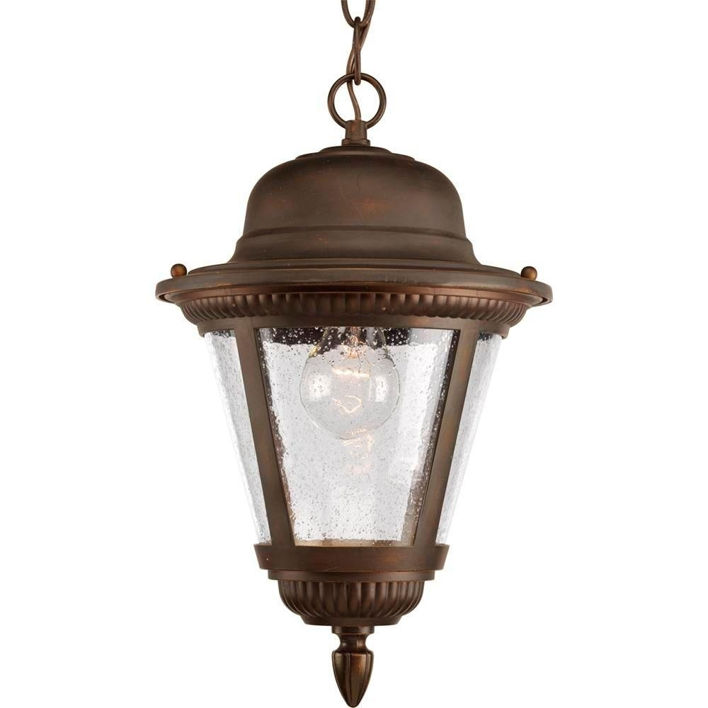 Inspiration about Progress Lighting Westport Collection 1 Light Antique Bronze Outdoor Throughout Outdoor Ceiling Hanging Lights (#9 of 15)