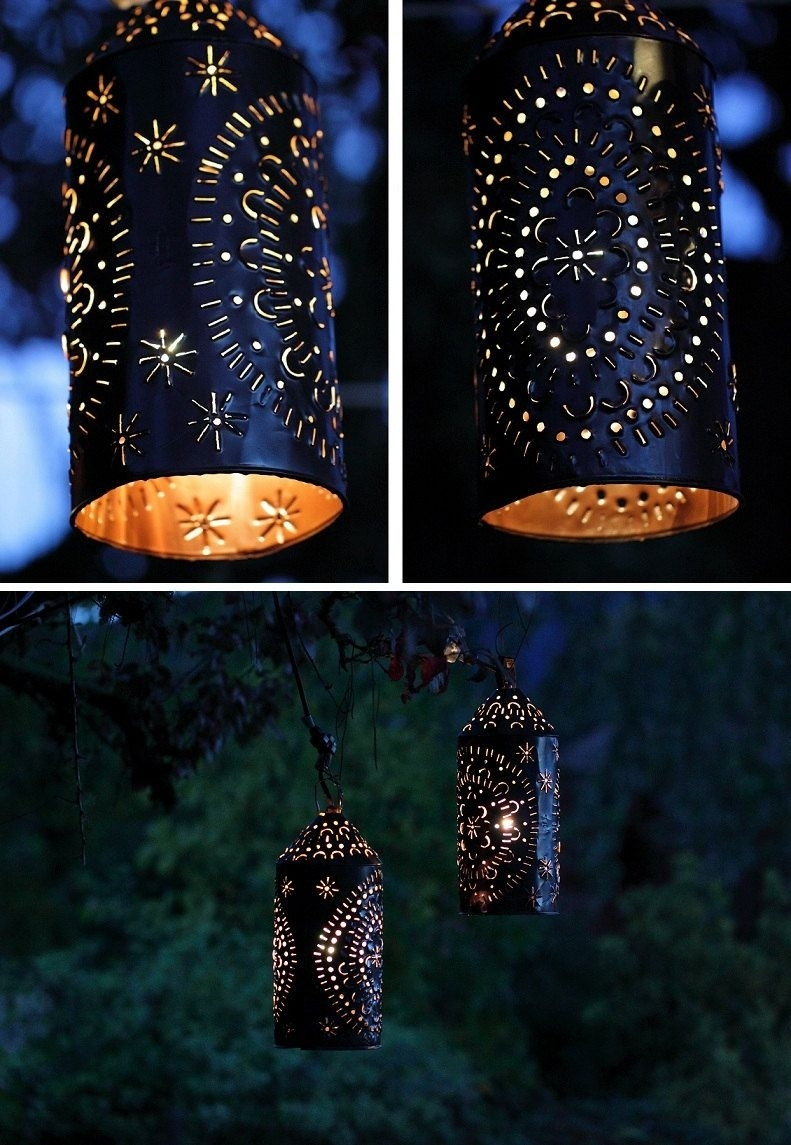 Punched Tin Light Lantern Primitive Rustictheuglybarnfarm Throughout Mexican Outdoor Hanging Lights (#14 of 15)