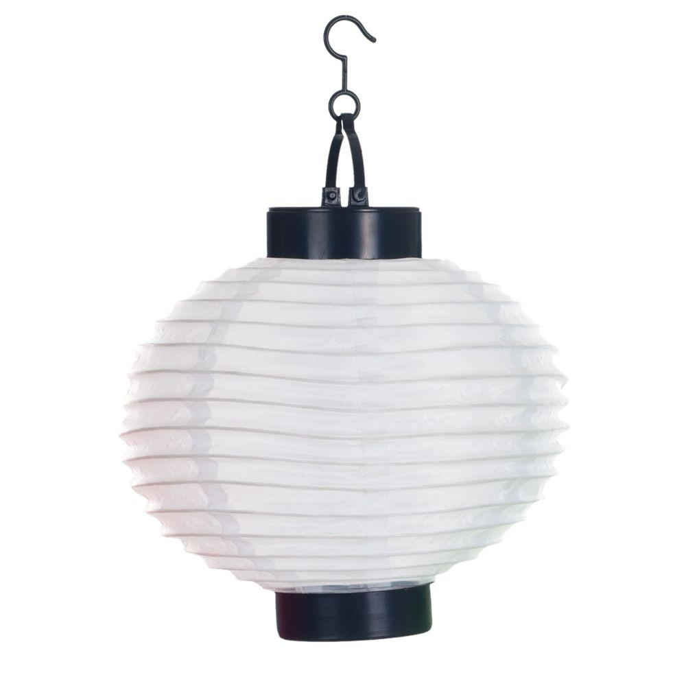 Inspiration about Pure Garden 4 Light White Outdoor Led Solar Chinese Lantern 50 19 W Inside White Outdoor Ceiling Lights (#12 of 15)