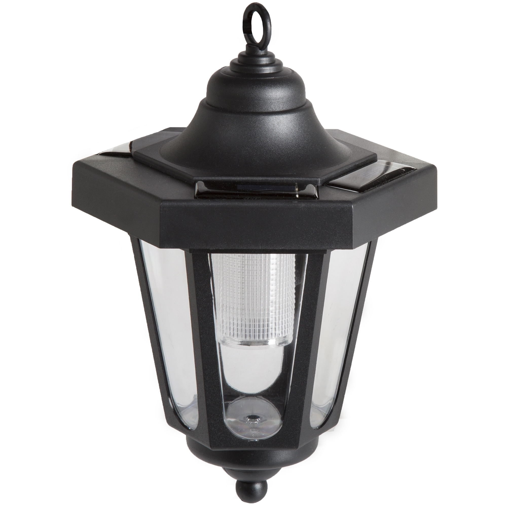 Pure Garden Solar Led Black Hanging Coach Lantern (Set Of 2) – Free Intended For Outdoor Hanging Coach Lanterns (View 13 of 15)