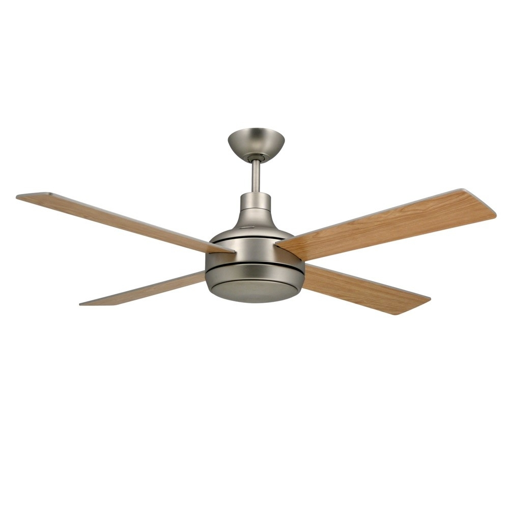 Quantum Ceilingtroposair Fans  Satin Steel Finish With Optional Pertaining To Outdoor Ceiling Fans Without Lights (#12 of 15)