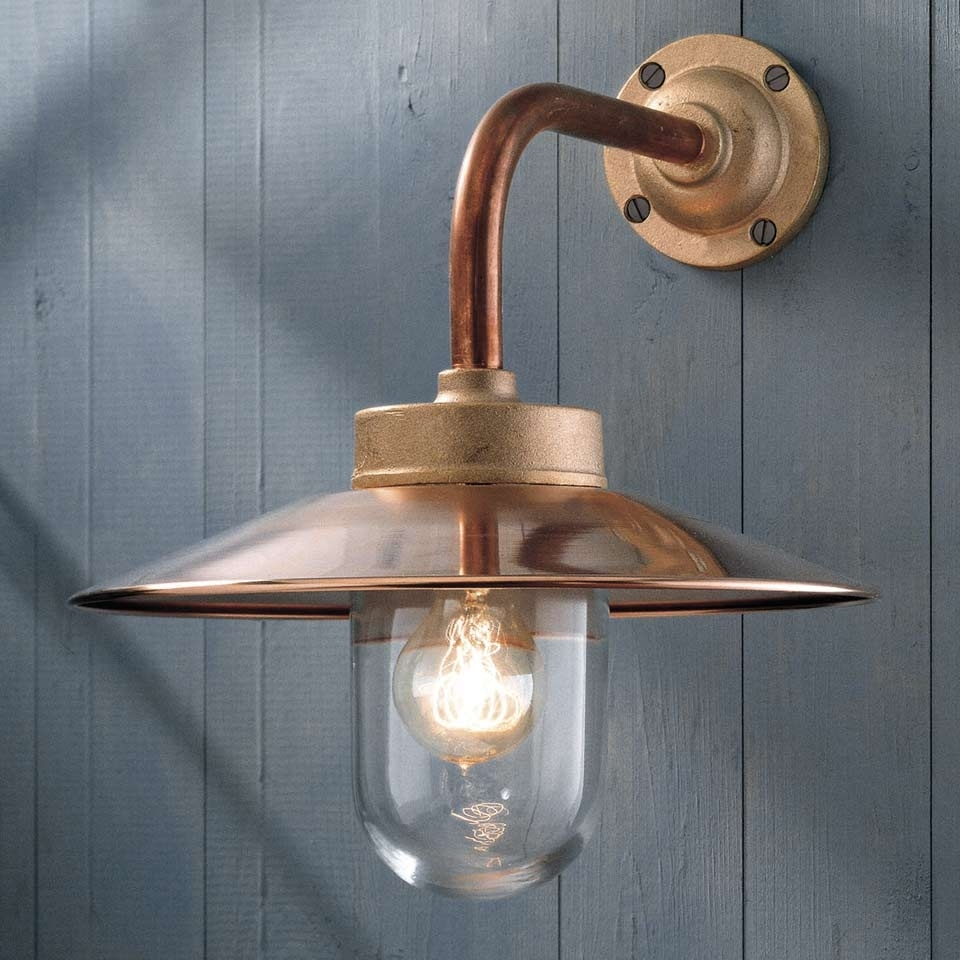 Inspiration about Quay Light 90° Copper With Clear Glass – Nautictekna – Classic Inside Copper Outdoor Wall Lighting (#13 of 15)