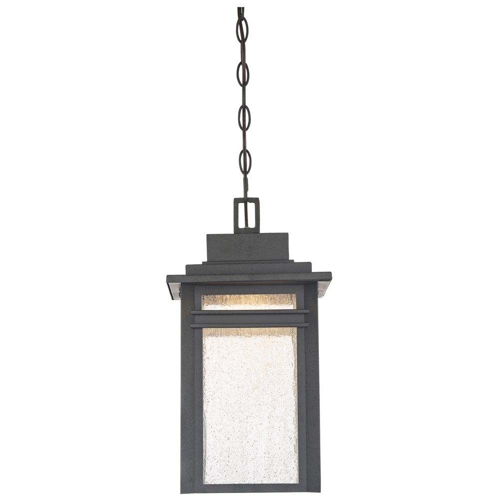 "Inspiration about Quoizel Beacon 17""h Stone Black Led Outdoor Hanging Light – Style Pertaining To Lamps Plus Outdoor Hanging Lights (#13 of 15)"