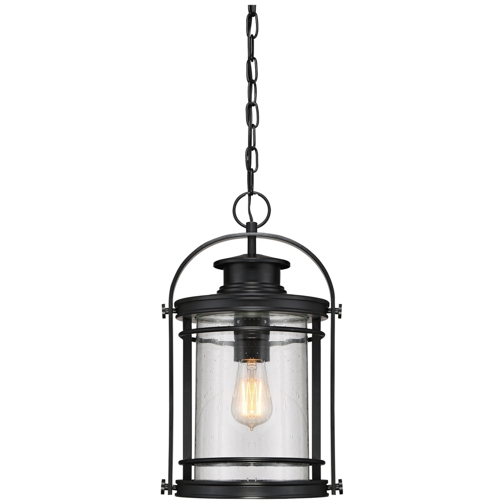 "Inspiration about Quoizel Booker 17 3/4""h Mystic Black Outdoor Hanging Light – Style With Lamps Plus Outdoor Hanging Lights (#9 of 15)"