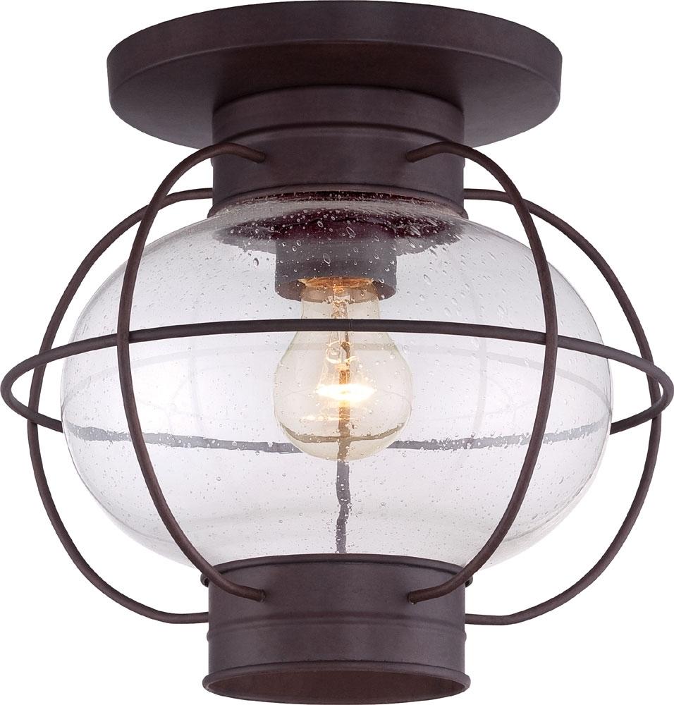 Quoizel Cor1611Cu Cooper Vintage Copper Bronze Outdoor Ceiling Light With Bronze Outdoor Ceiling Lights (#10 of 15)