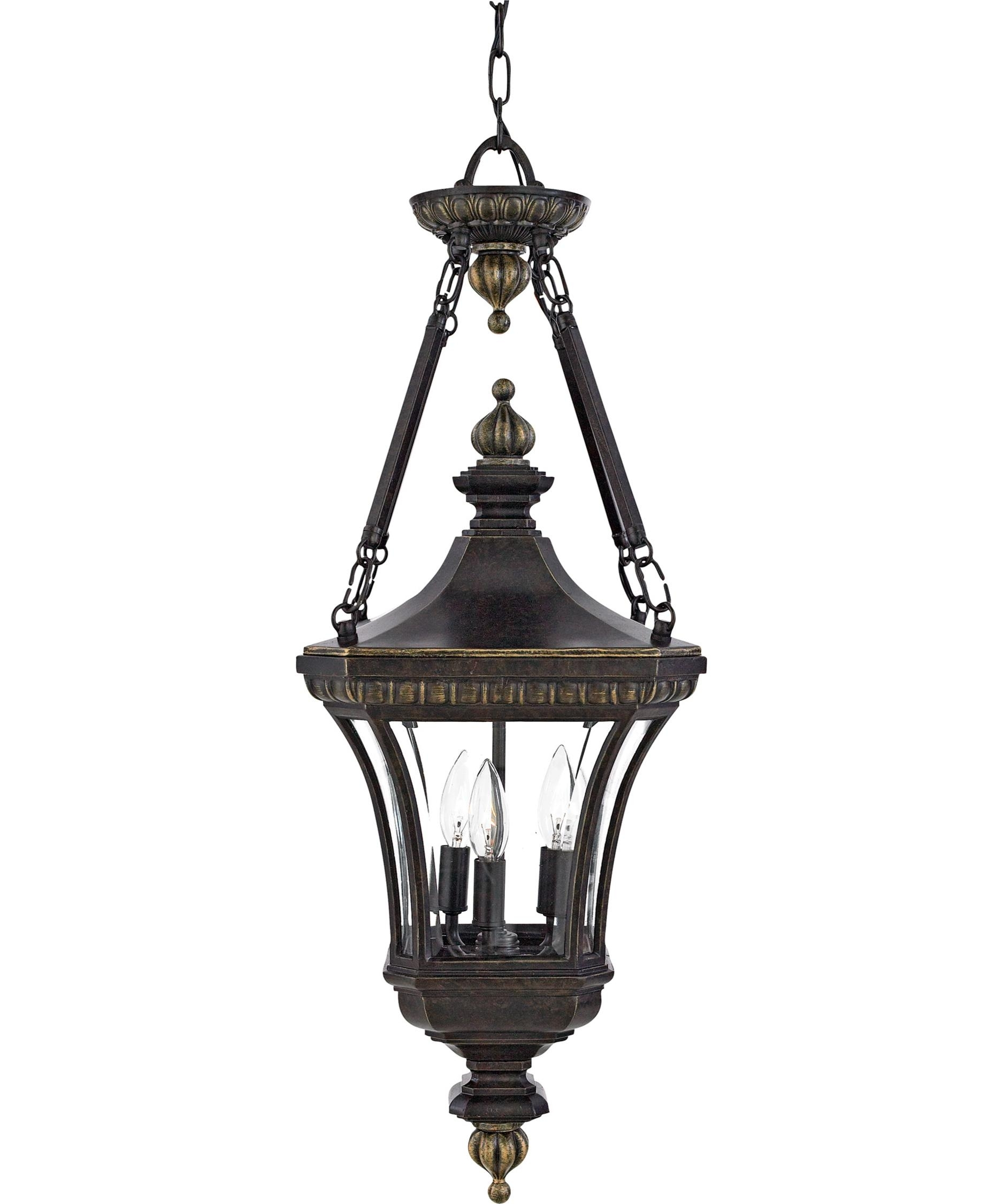 Inspiration about Quoizel De1490 Devon 11 Inch Wide 3 Light Outdoor Hanging Lantern Throughout White Outdoor Hanging Lanterns (#13 of 15)