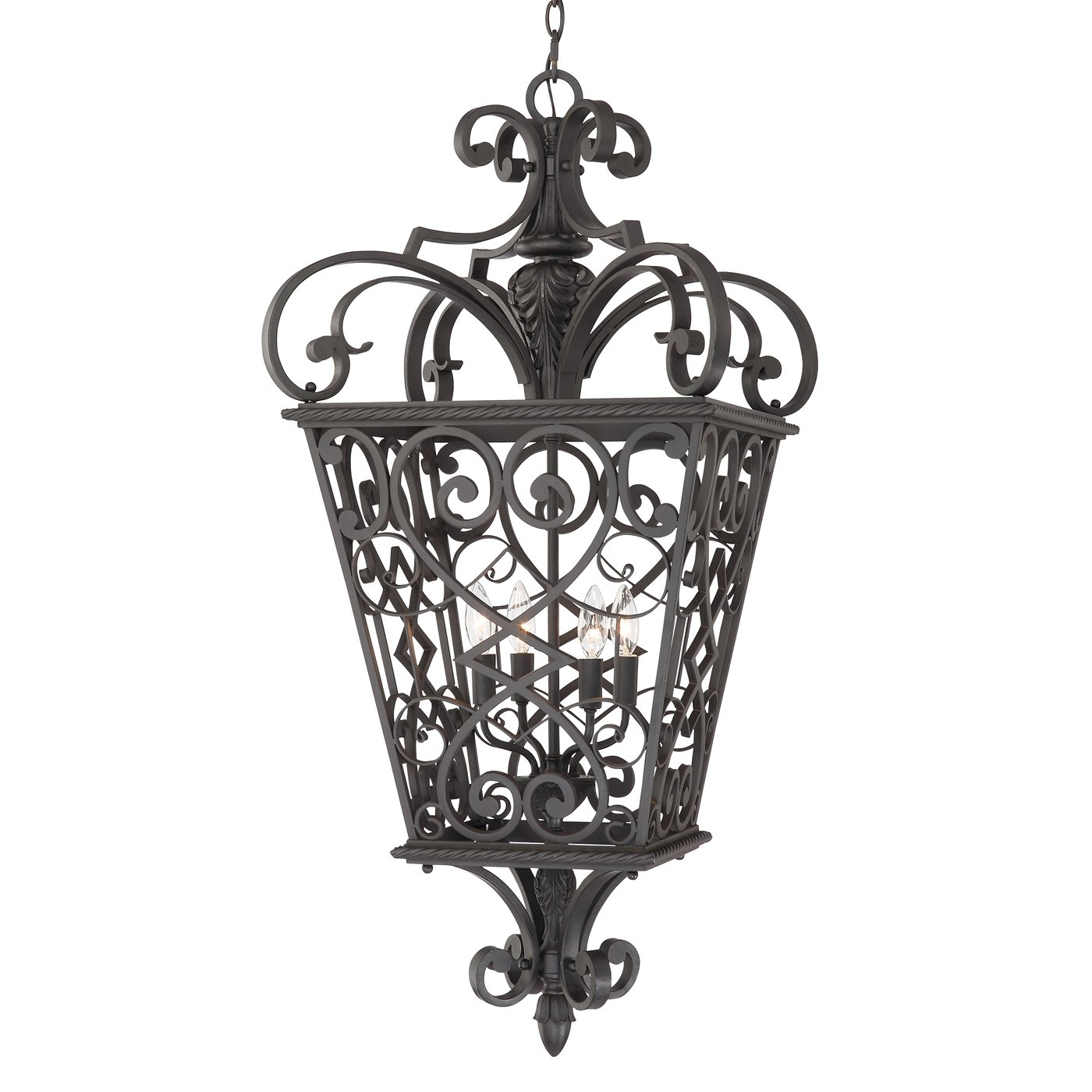 Inspiration about Quoizel Fq1920Mk01 4 Light Fort Quinn Extra Large Hanging Outdoor With Regard To Extra Large Outdoor Hanging Lights (#1 of 15)