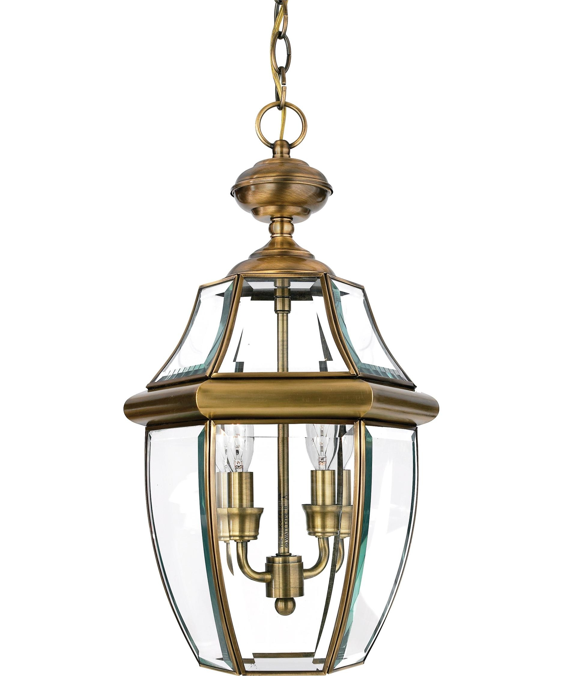 Inspiration about Quoizel Ny1178 Newbury 10 Inch Wide 2 Light Outdoor Hanging Lantern Within Outdoor Hanging Lights (#7 of 15)