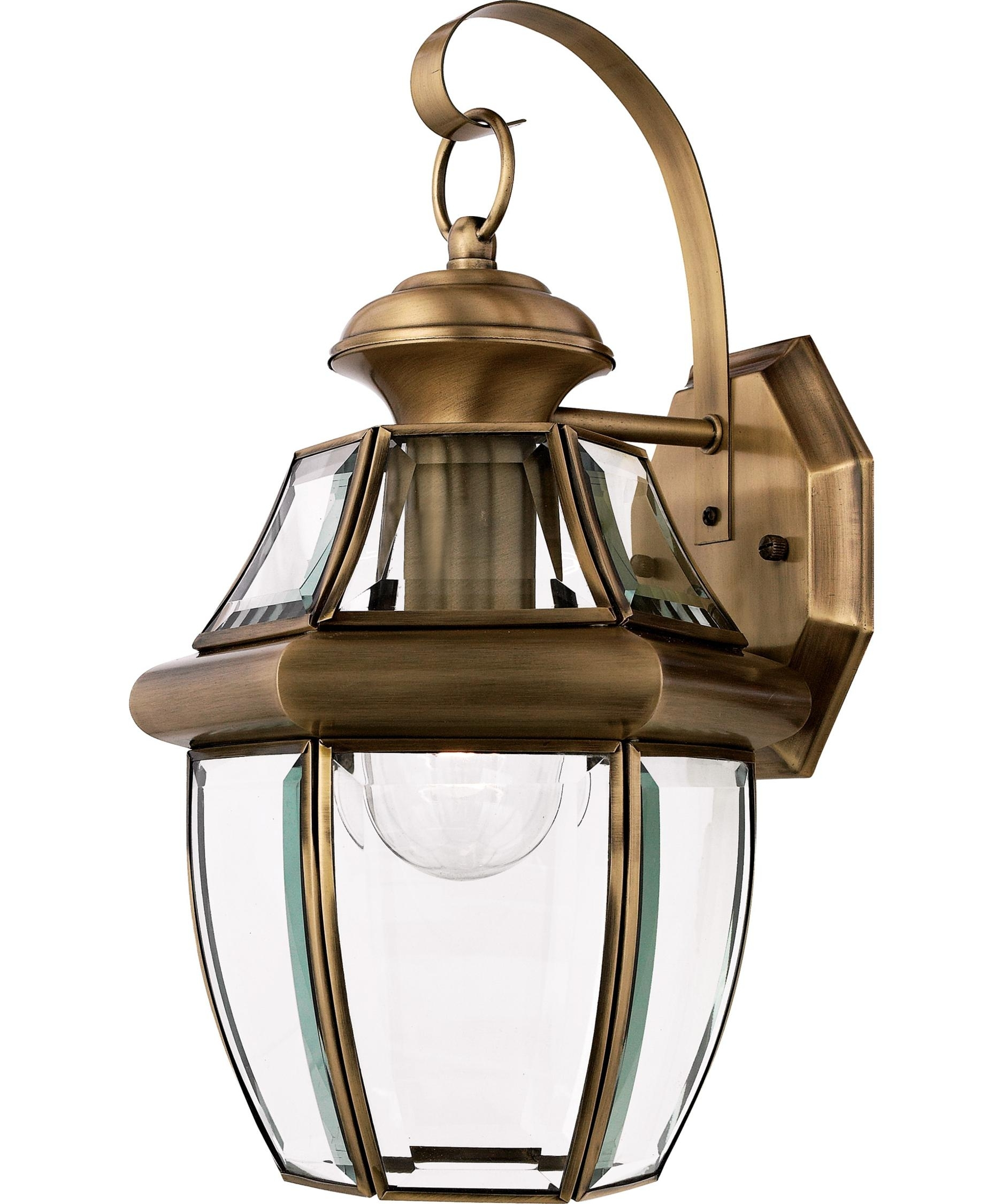 Inspiration about Quoizel Ny8316 Newbury 9 Inch Wide 1 Light Outdoor Wall Light In Antique Brass Outdoor Lighting (#5 of 15)