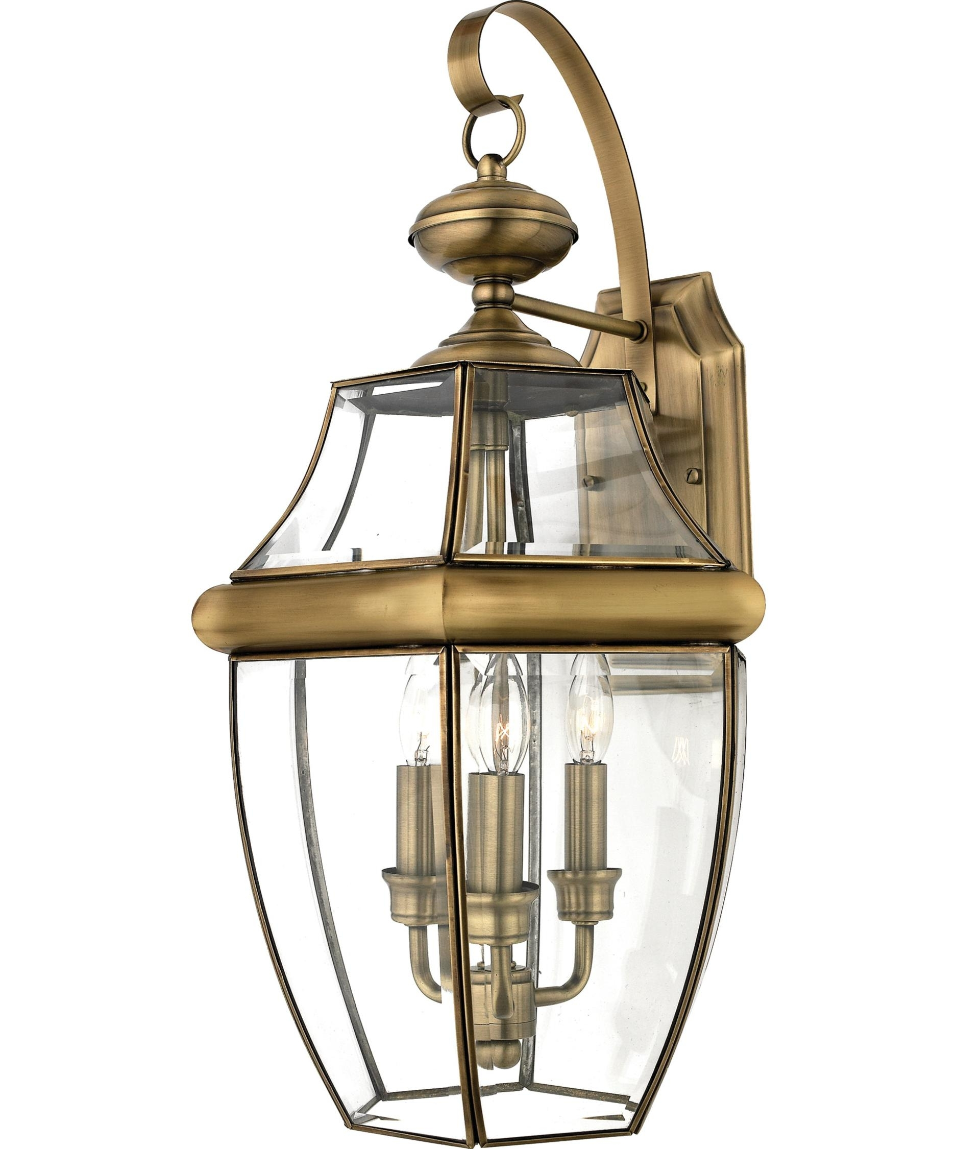 Inspiration about Quoizel Ny8318 Newbury 13 Inch Wide 3 Light Outdoor Wall Light Intended For Antique Outdoor Wall Lights (#15 of 15)