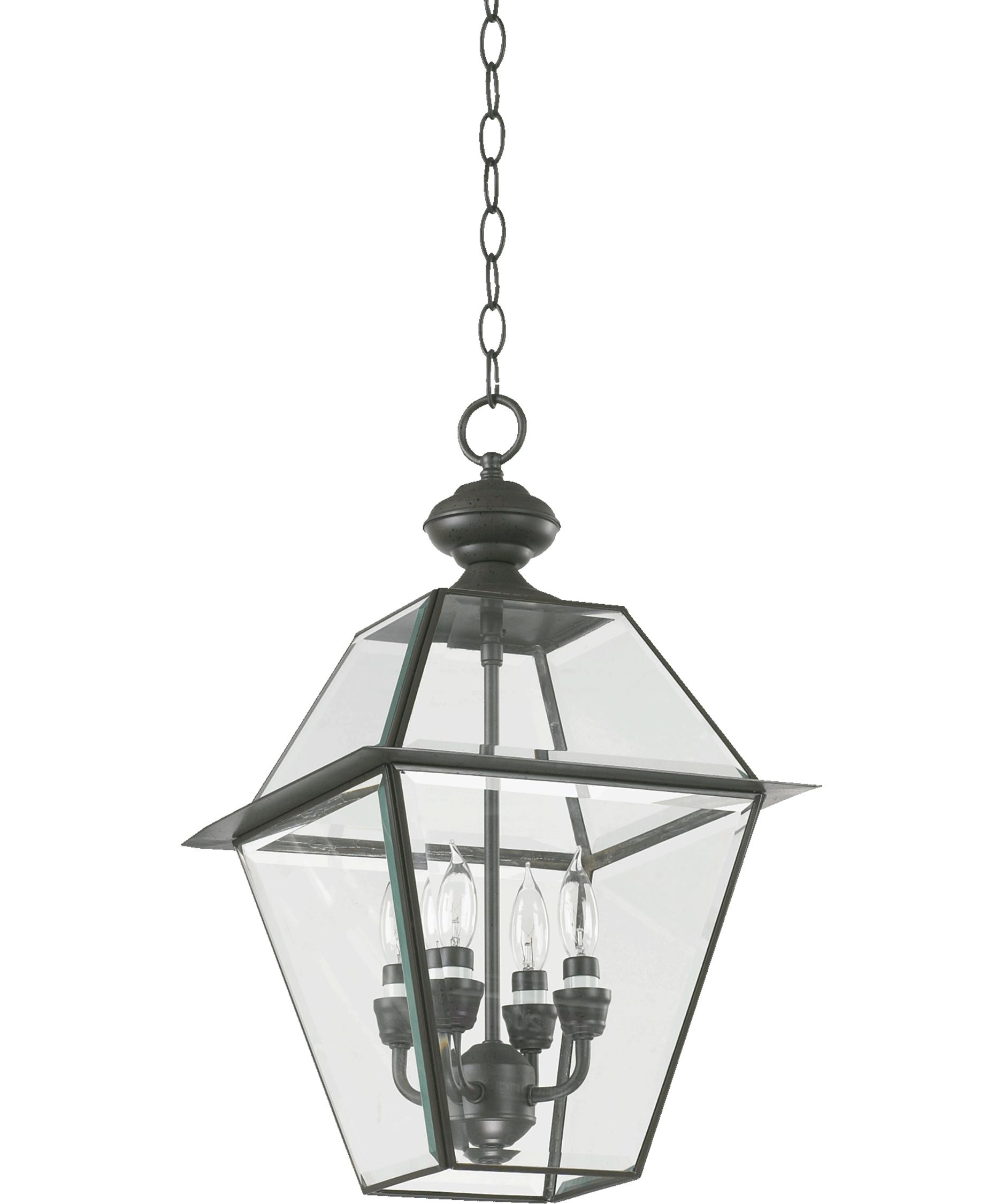 Inspiration about Quorum International 728 4 Duvall 12 Inch Wide 4 Light Outdoor Inside Bronze Outdoor Hanging Lights (#14 of 15)