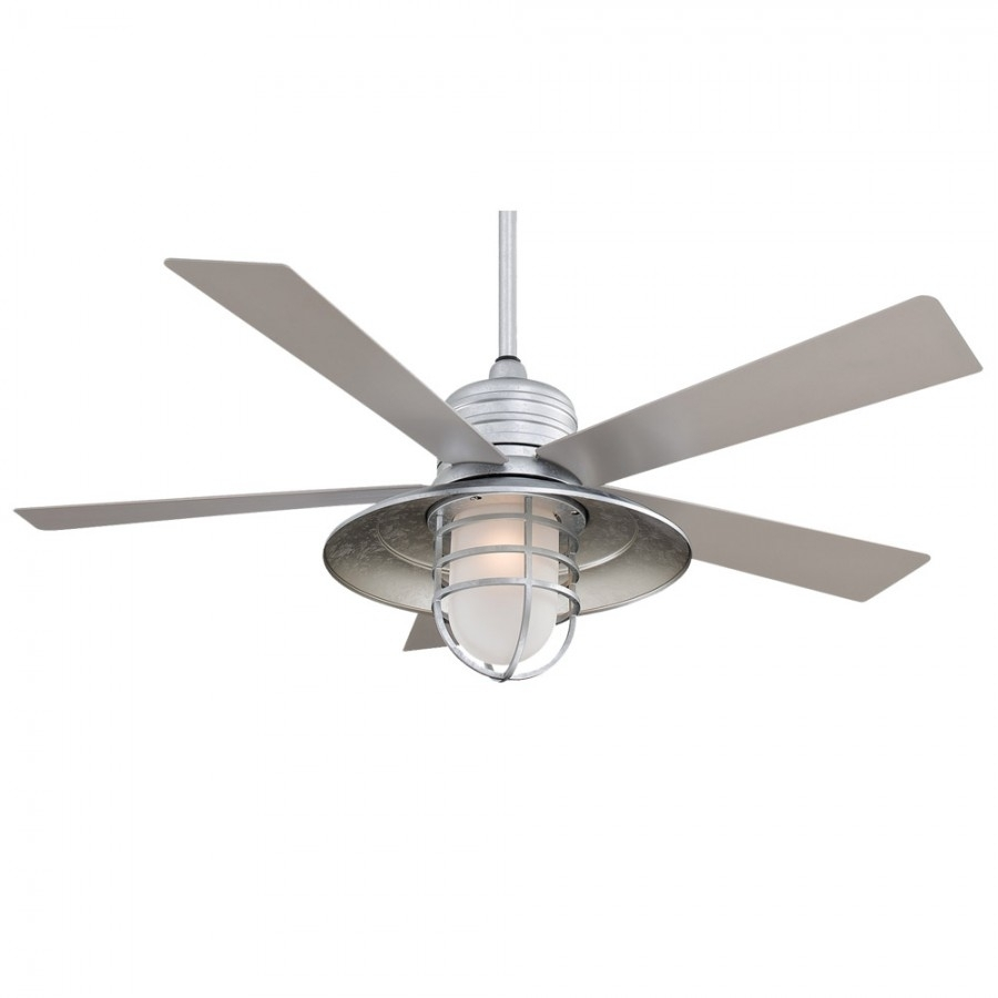 "Rainmanminka Aire – 54"" Nautical Ceiling Fan With Light With Outdoor Ceiling Fan Lights (#11 of 15)"