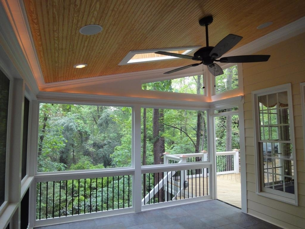 Inspiration about Raleigh Screen Porch Rope Lighting Cary Deck Screen Porch Regarding Outdoor Deck Ceiling Lights (#9 of 15)
