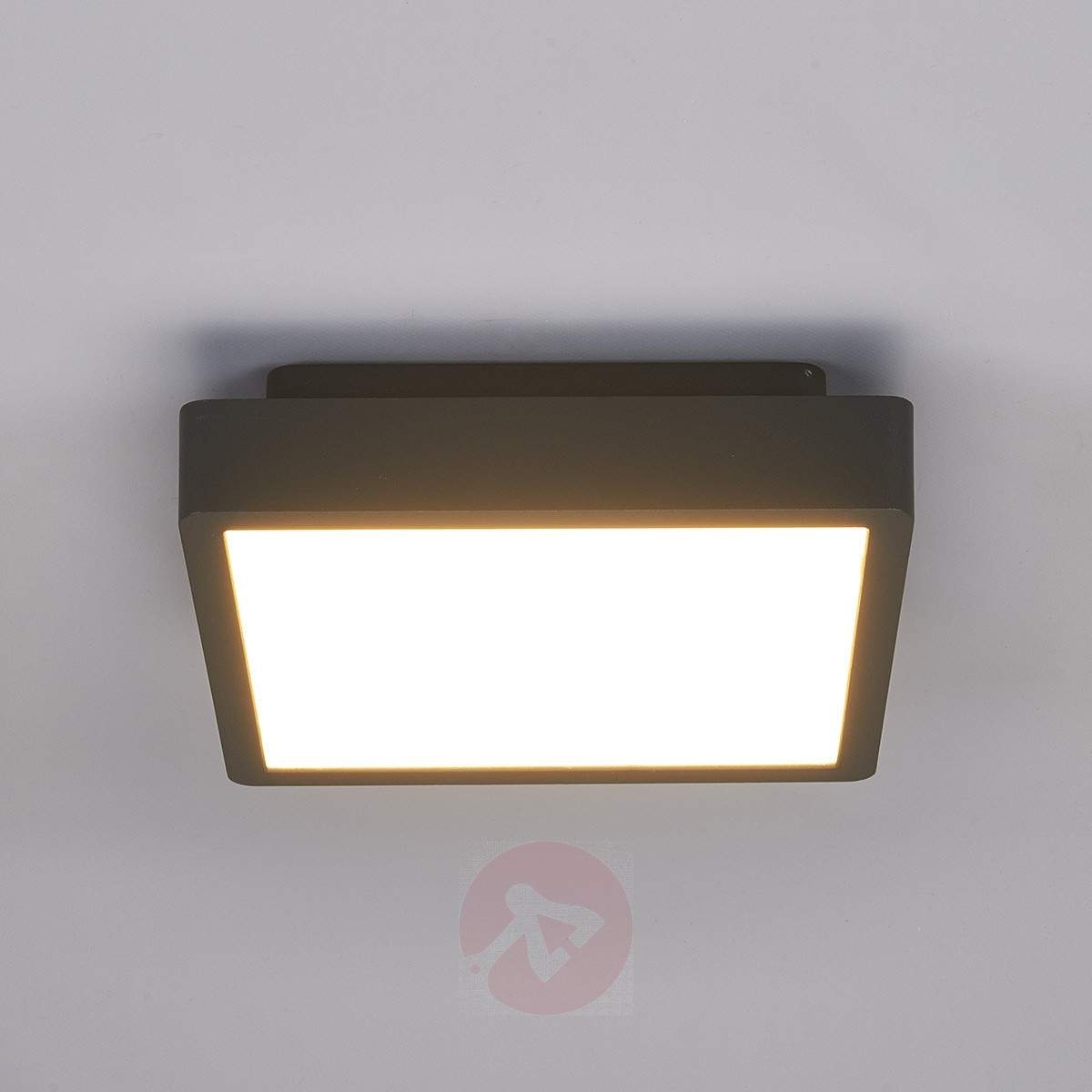 Rectangular Led Outdoor Ceiling Light Talea | Lights.co (#13 of 15)