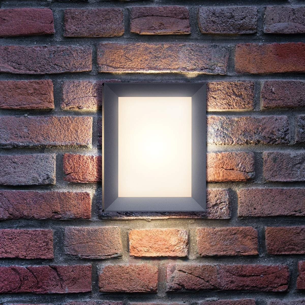 Rectangular Outdoor Wall Lamp Karp With Led | Lights (#11 of 15)
