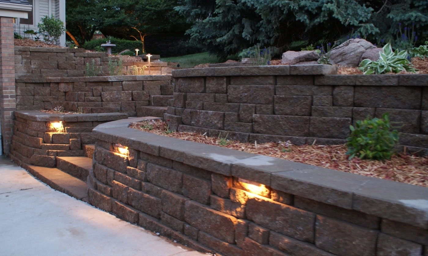 Inspiration about Retaining Wall Lighting Ideas | Http://umadepa | Pinterest Inside Outdoor Stone Wall Lighting (#10 of 15)