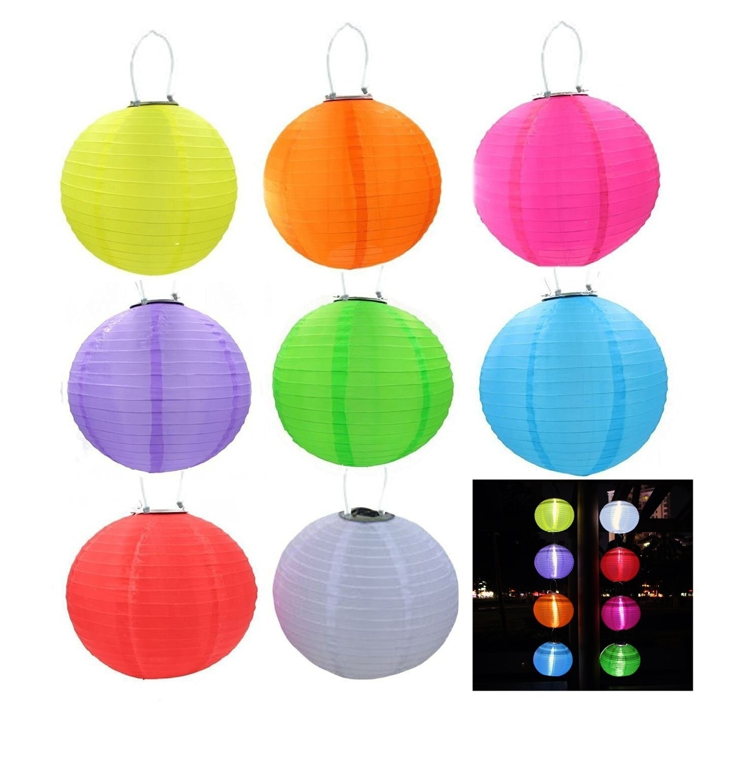Riorand Solar Lantern Lights Led Outdoor Hanging Lights Waterproof Intended For Outdoor Hanging Chinese Lanterns (#13 of 15)