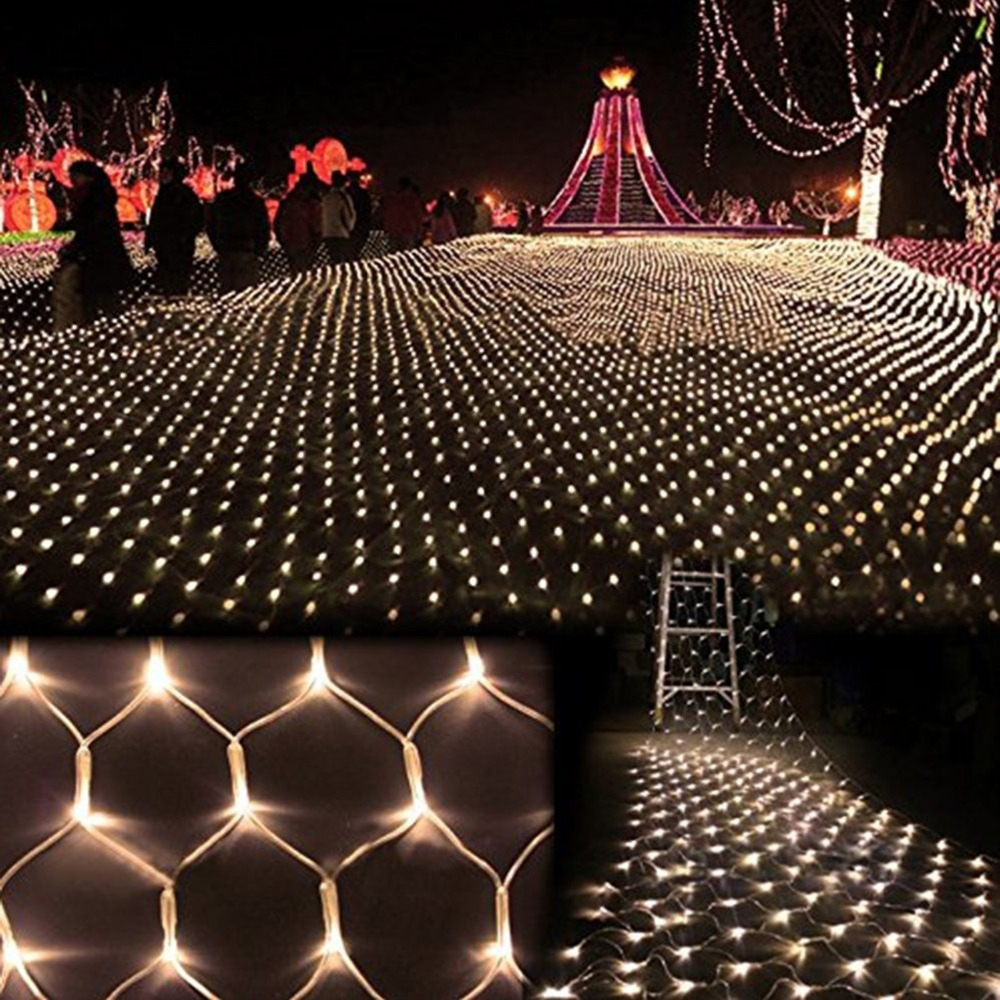Romantic 2M*3M Led Holiday Lights Christmas Tree Wedding Party Fairy For Outdoor Wall Xmas Lights (#11 of 15)