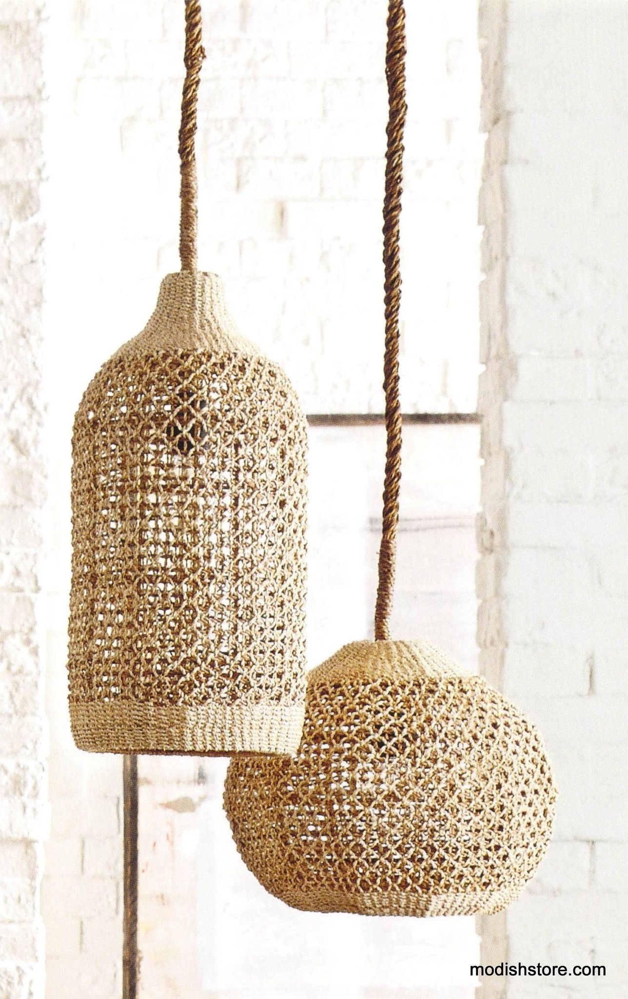 Inspiration about Roost Abaca Woven Pendants | Pendant Lamps, Pendants And Store Regarding Outdoor Rattan Hanging Lights (#2 of 15)