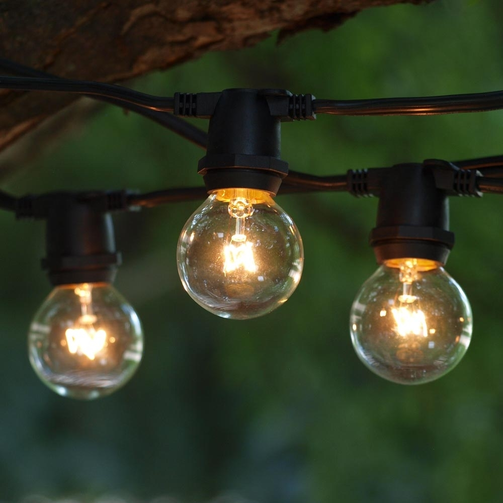 Round Outdoor Edison Bulbs : Outdoor Furniture – Style Outdoor Pertaining To Contemporary Outdoor String Lights At Target (#14 of 15)