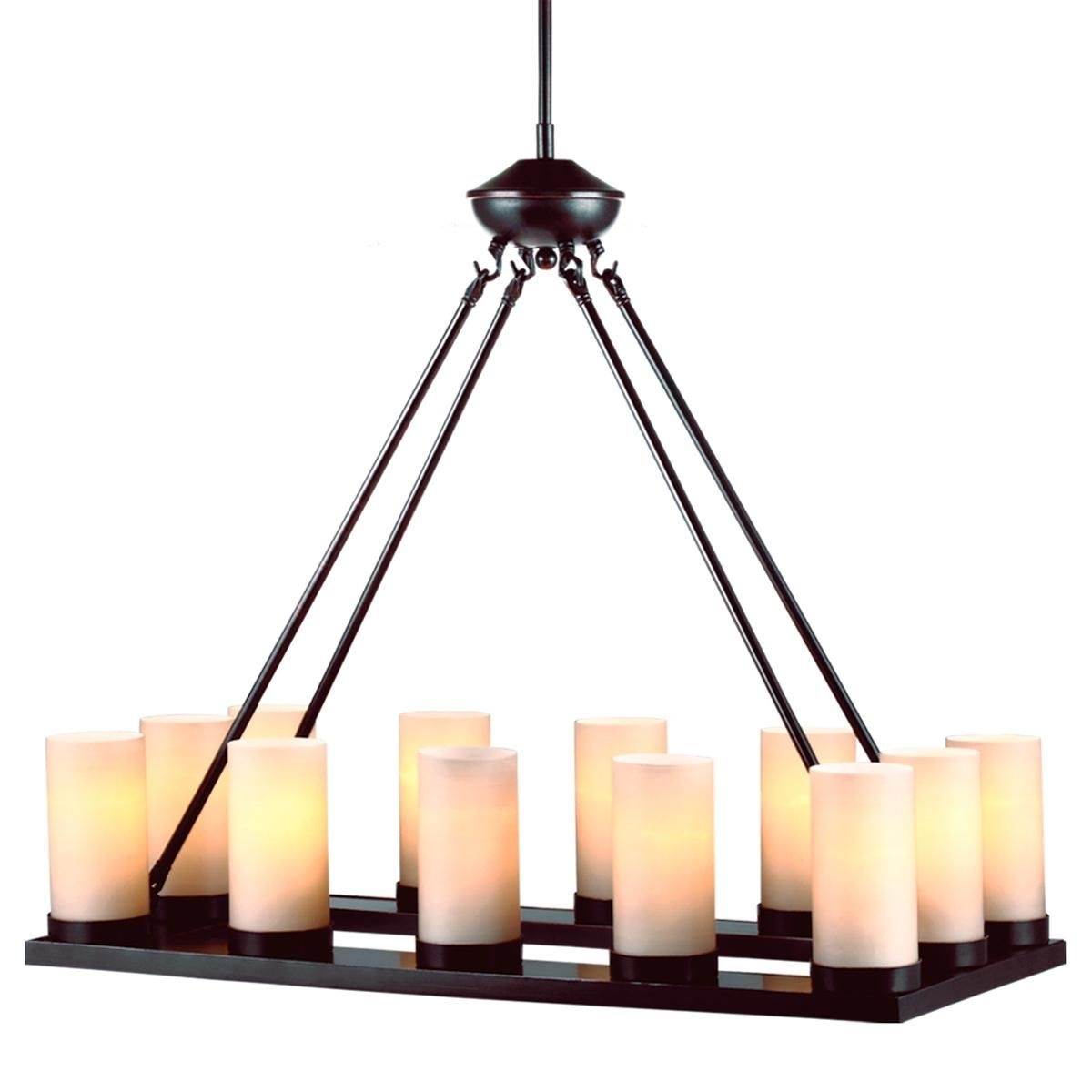 Rustic Chic Rectangular Tray Chandelier 12 Lights | Rustic Chic Within Modern Rustic Outdoor Lighting Att Wayfair (View 2 of 15)
