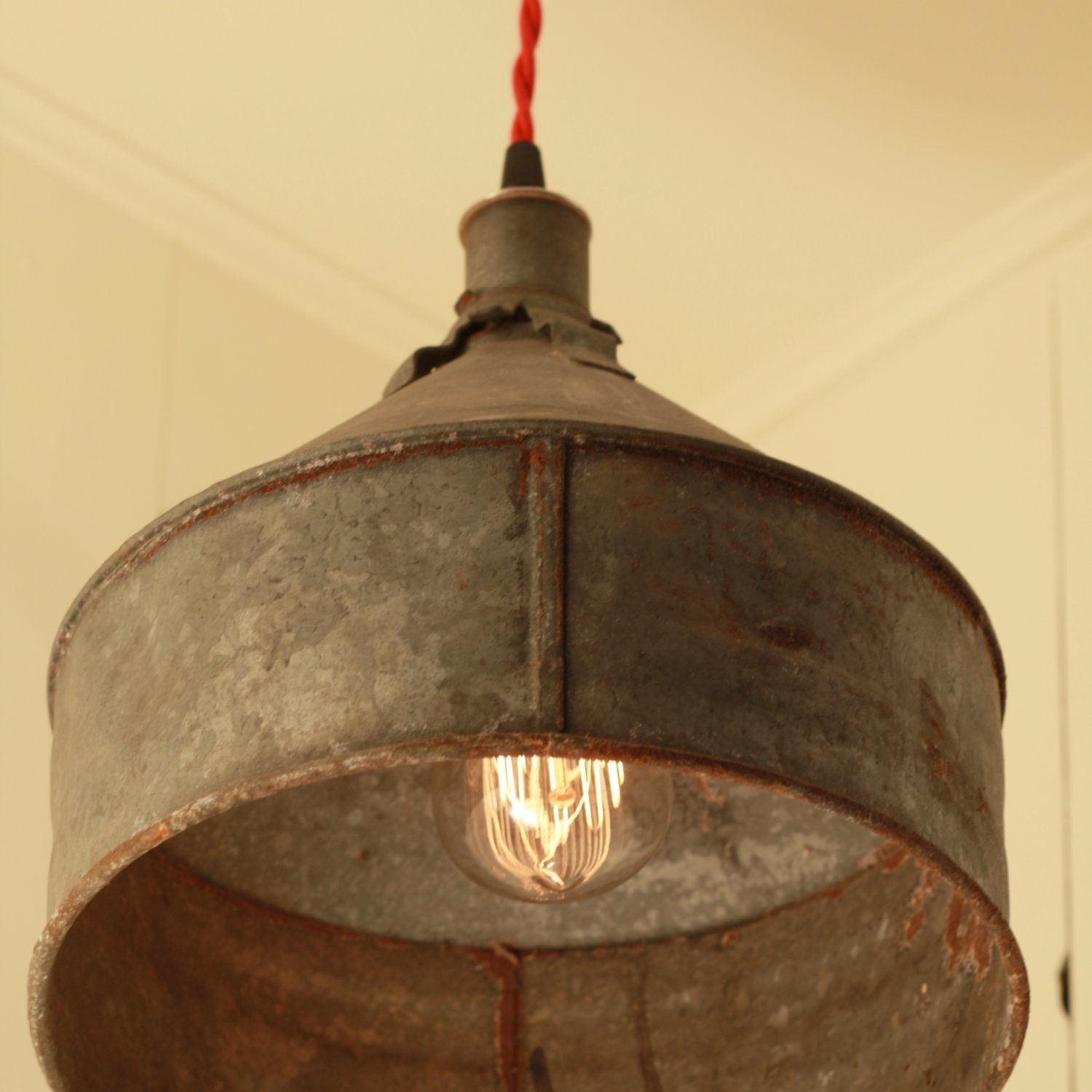 Rustic Lamp Shades Ideas | Dhabalane Decors : Decorative Rustic Lamp Inside Diy Outdoor Ceiling Lights (#15 of 15)