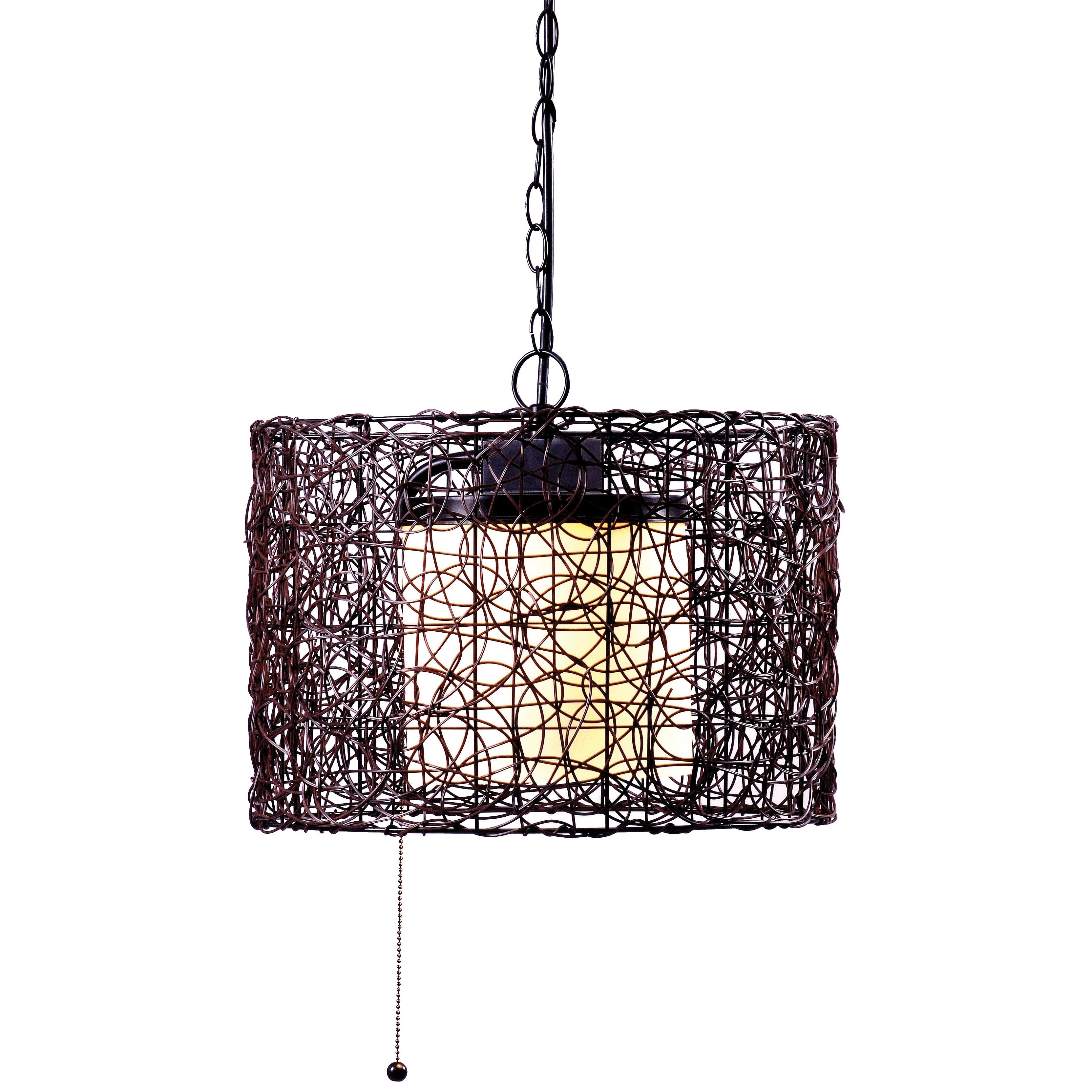 Inspiration about Rustic Outdoor Hanging Lights Wayfair Rosalind 1 Light Pendant Within Rustic Outdoor Lighting At Wayfair (#13 of 15)