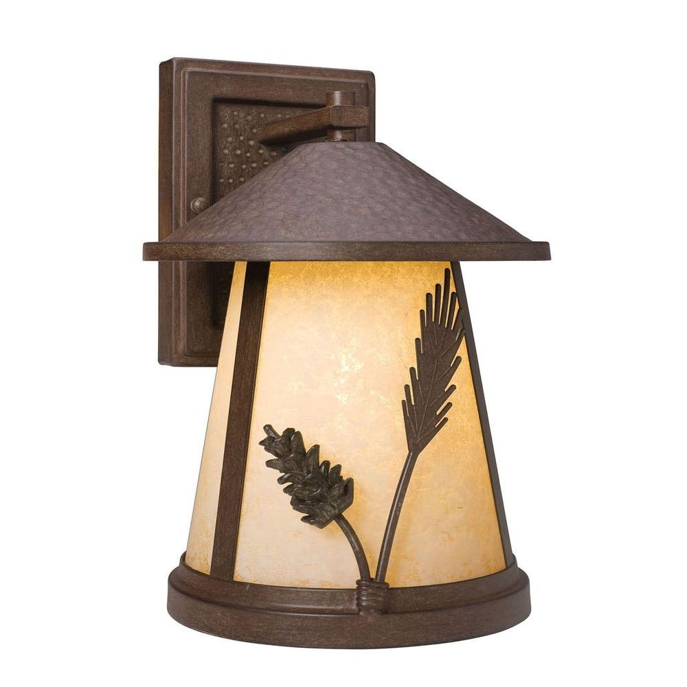 Inspiration about Rustic – Outdoor Wall Mounted Lighting – Outdoor Lighting – The Home Regarding Modern Rustic Outdoor Lighting At Home Depot (#12 of 15)