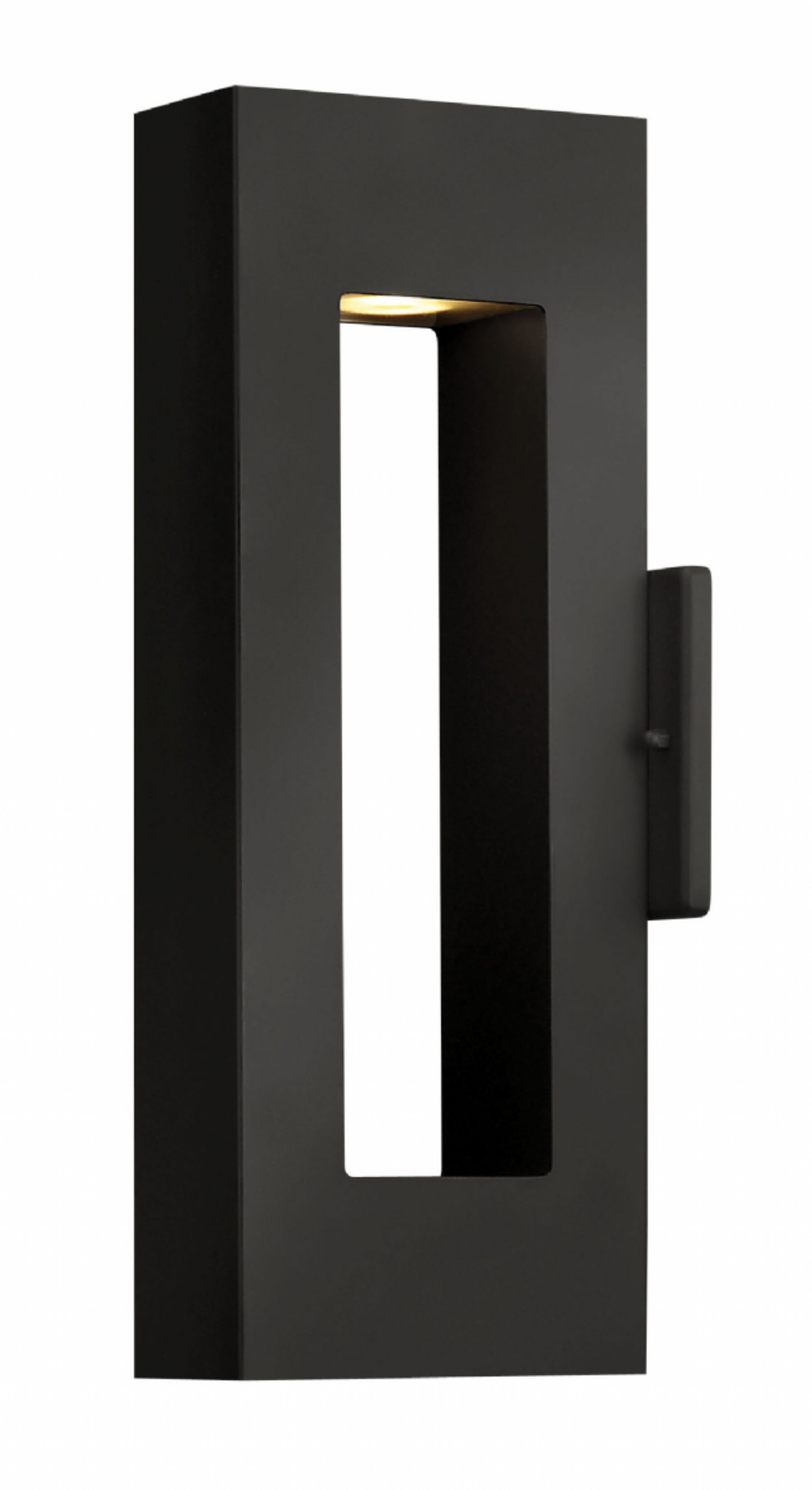Satin Black Atlantis > Exterior Wall Mount Regarding Modern Led Hinkley Lighting (#11 of 15)