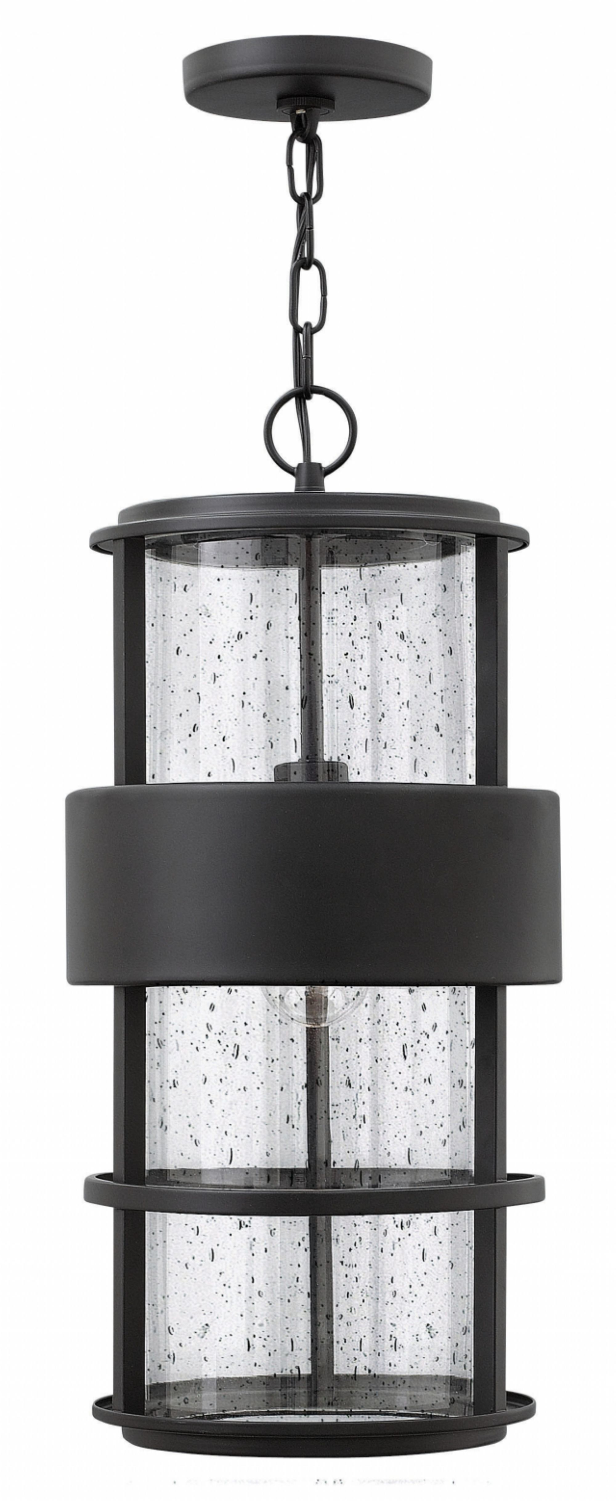 Satin Black Saturn > Exterior Ceiling Mount Intended For Contemporary Hanging Porch Hinkley Lighting (View 6 of 15)