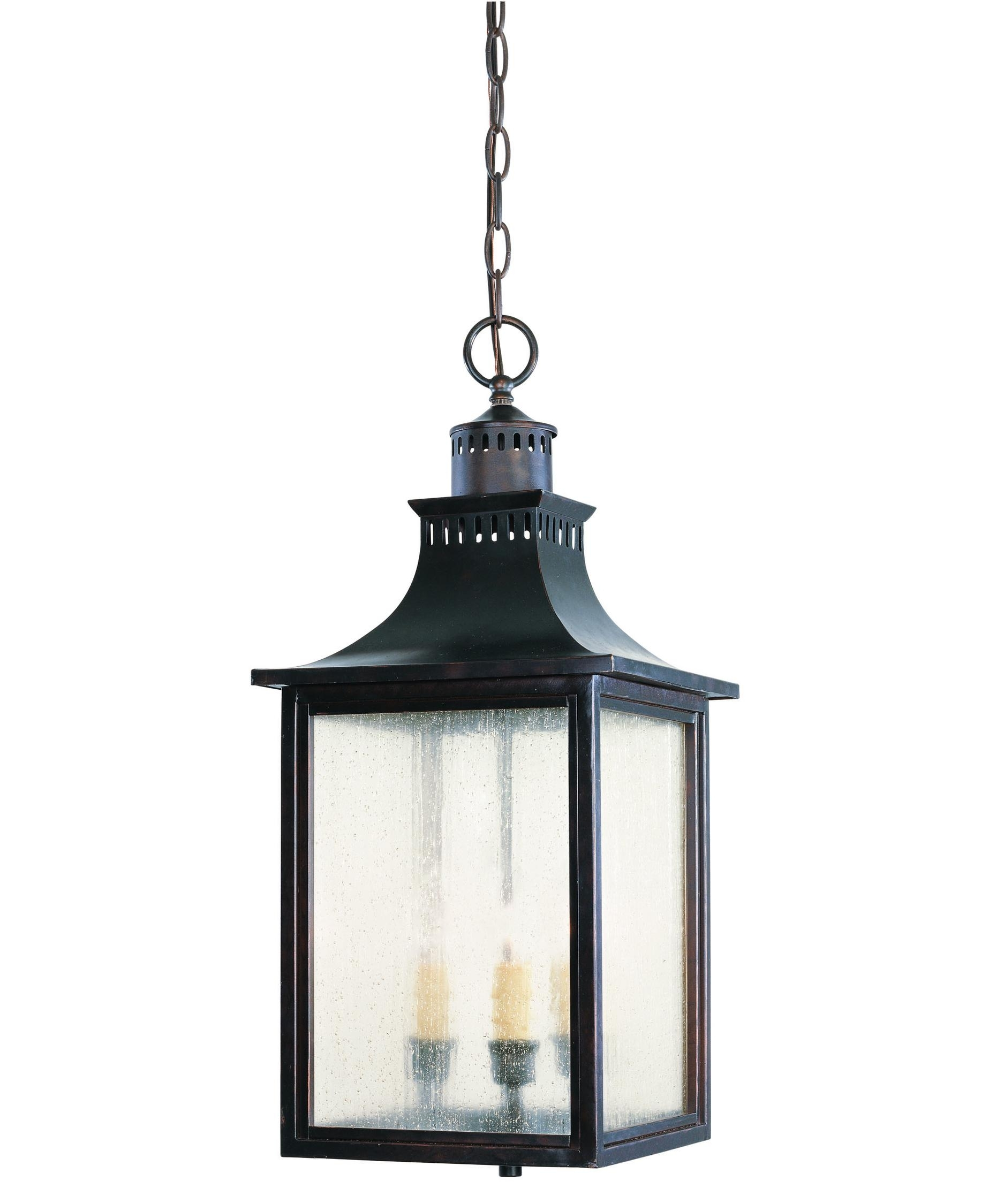 Savoy House 5 256 Monte Grande 10 Inch Wide 3 Light Outdoor Hanging Pertaining To Outdoor Hanging Metal Lanterns (View 13 of 15)