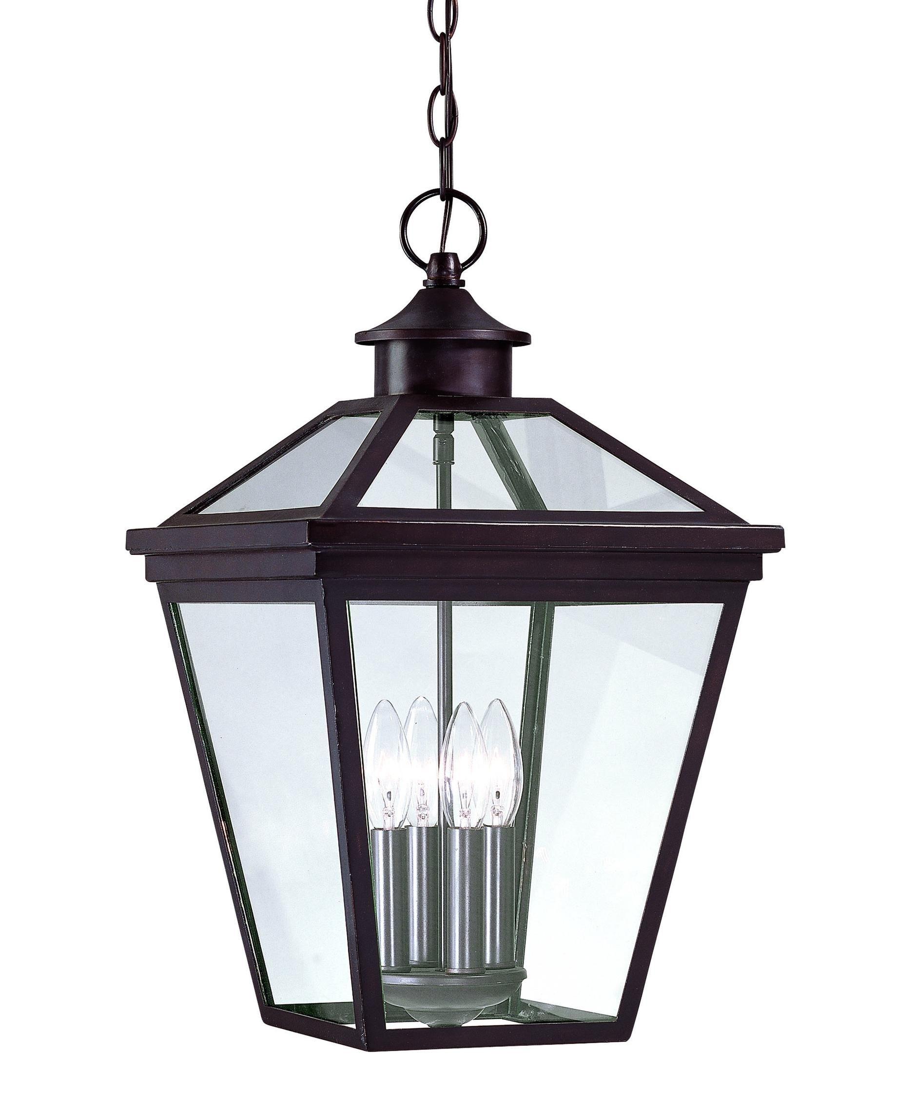 Savoy House Ellijay 4 Light Outdoor Hanging Lantern | Capitol In Outdoor Hanging Glass Lanterns (View 11 of 15)