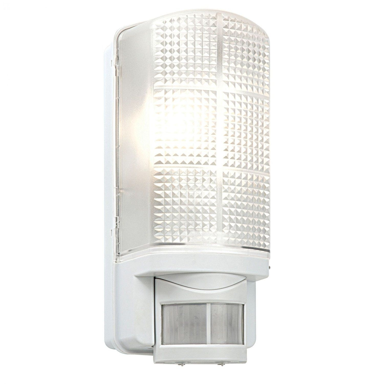 Saxby Rh60 Modern Outdoor Garden Porch Pir Ip44 Motion Sensor White Intended For Led Outdoor Raccoon Wall Lights With Motion Detector (View 11 of 15)