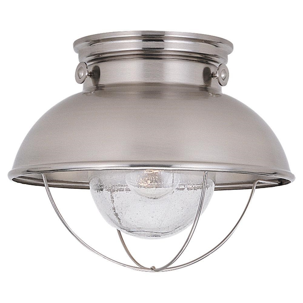 Sea Gull Lighting 8869 98 Sebring 1 Light Outdoor Semi Flush Mount With Outdoor Semi Flush Ceiling Lights (View 2 of 15)