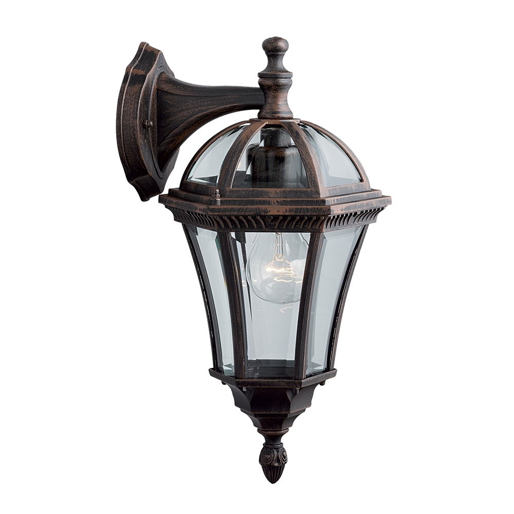 Searchlight 1563 Capri Rustic Brown Hanging Small Outdoor Wall Light For Outdoor Hanging Lanterns With Pir (#15 of 15)