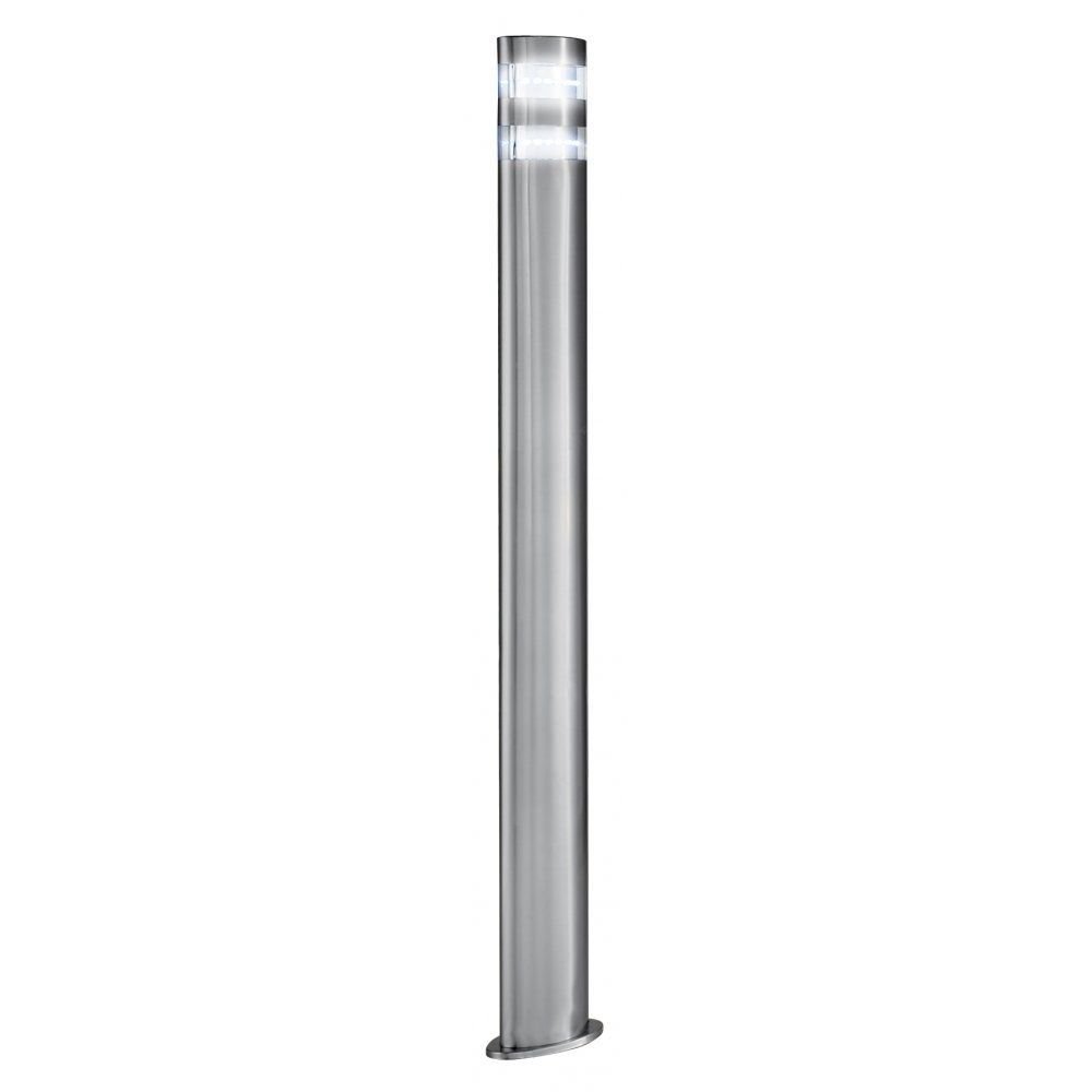 Searchlight 5304 900 | Outdoor Led Post Lamp | Satin Silver | Ip44 Within Modern Outdoor Post Lighting (#13 of 15)