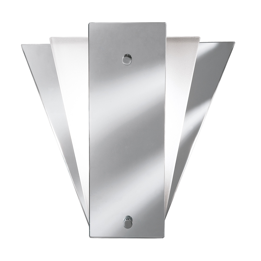 Searchlight 6201 Art Deco Wall Light With Mirrored Glass From Lights Within Art Deco Outdoor Wall Lights (#15 of 15)