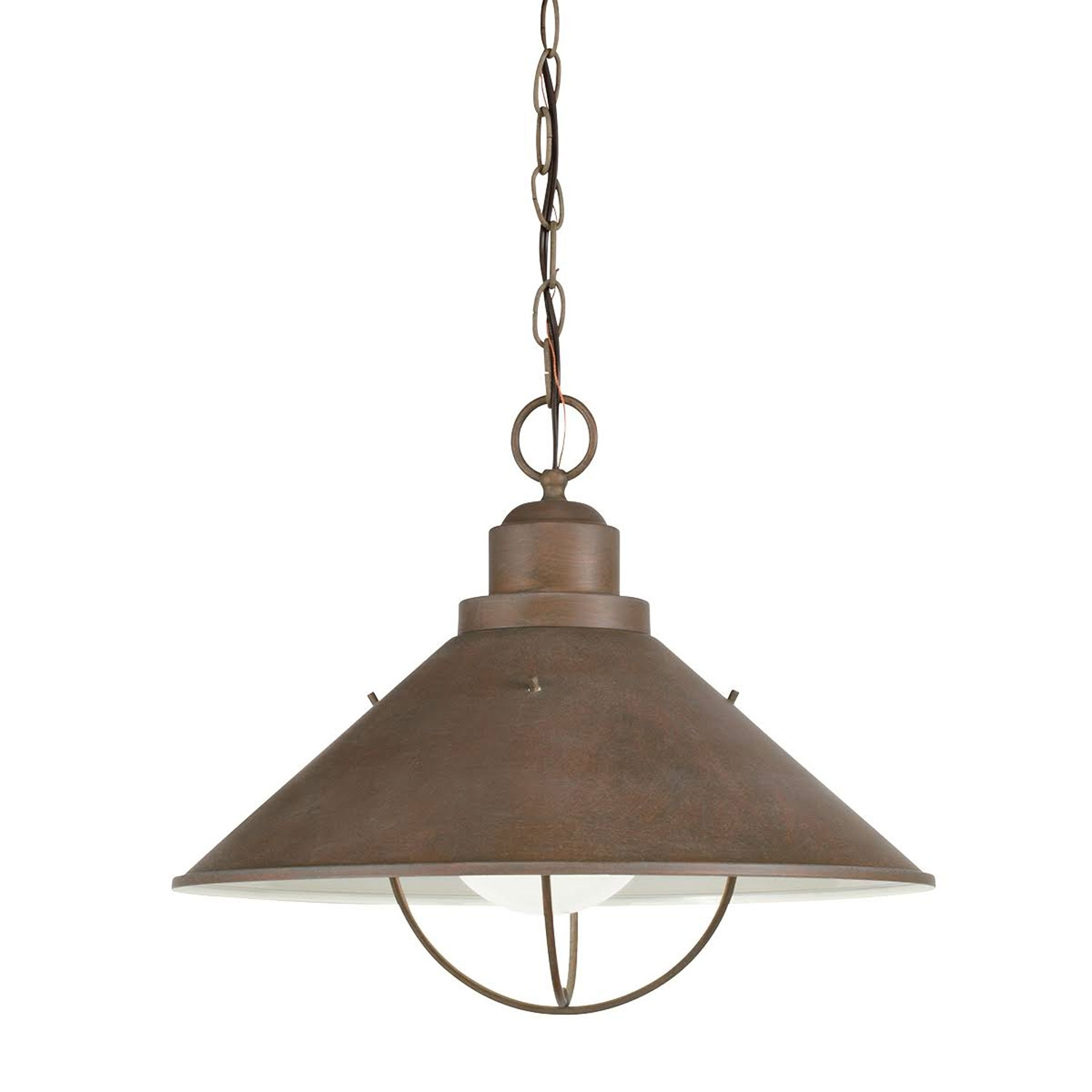 Seaside Nautical Dome Light Kichler Outdoor Pendants Outdoor Hanging In Nautical Outdoor Hanging Lights (View 7 of 15)