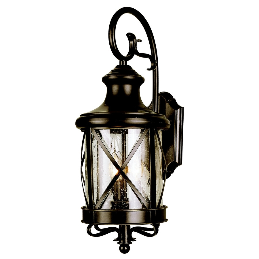 Shop Allen + Roth Oil Rubbed Bronze Outdoor Wall Light At Lowes Throughout Oil Rubbed Bronze Outdoor Wall Lights (#10 of 15)