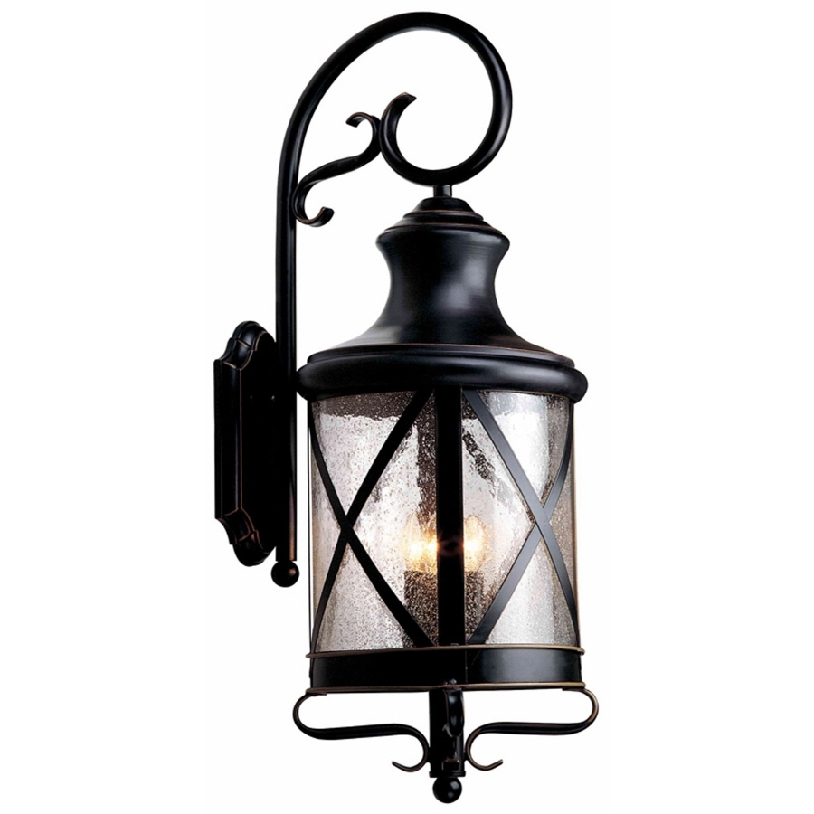 Shop Allen + Roth Oil Rubbed Bronze Outdoor Wall Light At Lowes With Regard To Oil Rubbed Bronze Outdoor Wall Lights (#11 of 15)
