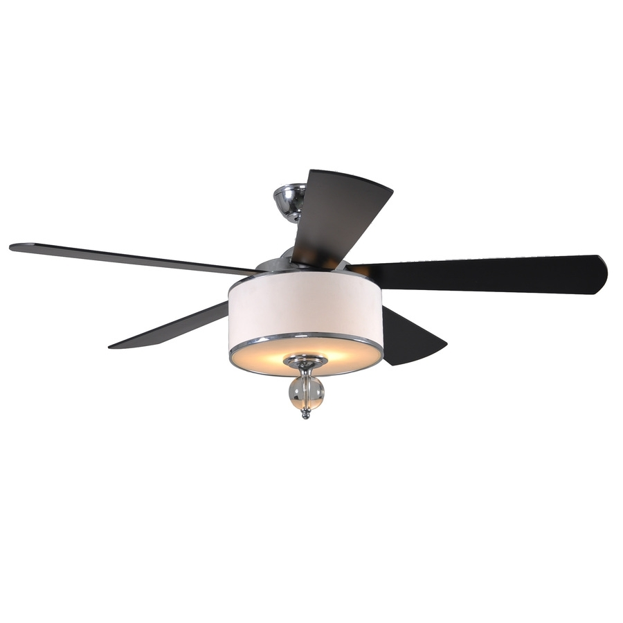 Shop Allen + Roth Victoria Harbor 52 In Polished Chrome Downrod Within Outdoor Ceiling Fans With Light At Lowes (#5 of 15)