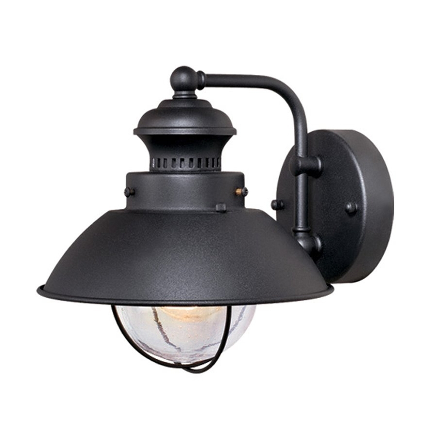 Shop Cascadia Lighting Nautical 8 In H Textured Black Outdoor Wall With Regard To Nautical Outdoor Wall Lighting (#11 of 15)