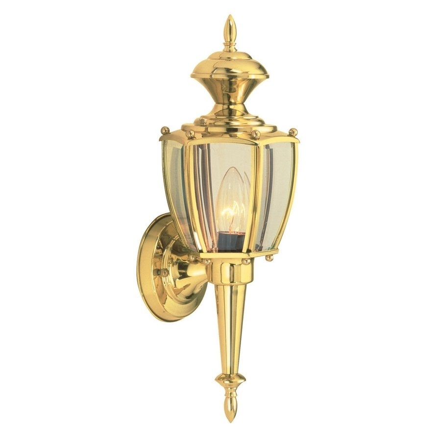 Shop Design House Jackson 17 In H Polished Brass Medium Base (E 26 For Polished Brass Outdoor Ceiling Lights (#13 of 15)