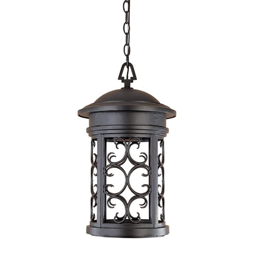 Shop Designer's Fountain Ellington 19 In Oil Rubbed Bronze Hardwired Regarding Outdoor Hanging Lights At Ebay (View 7 of 15)