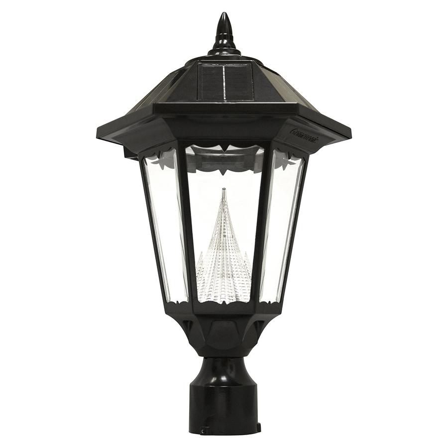 Shop Gama Sonic Windsor 20 In H Black Solar Led Post Light At Lowes In Lowes Solar Garden Lights Fixtures (#12 of 15)