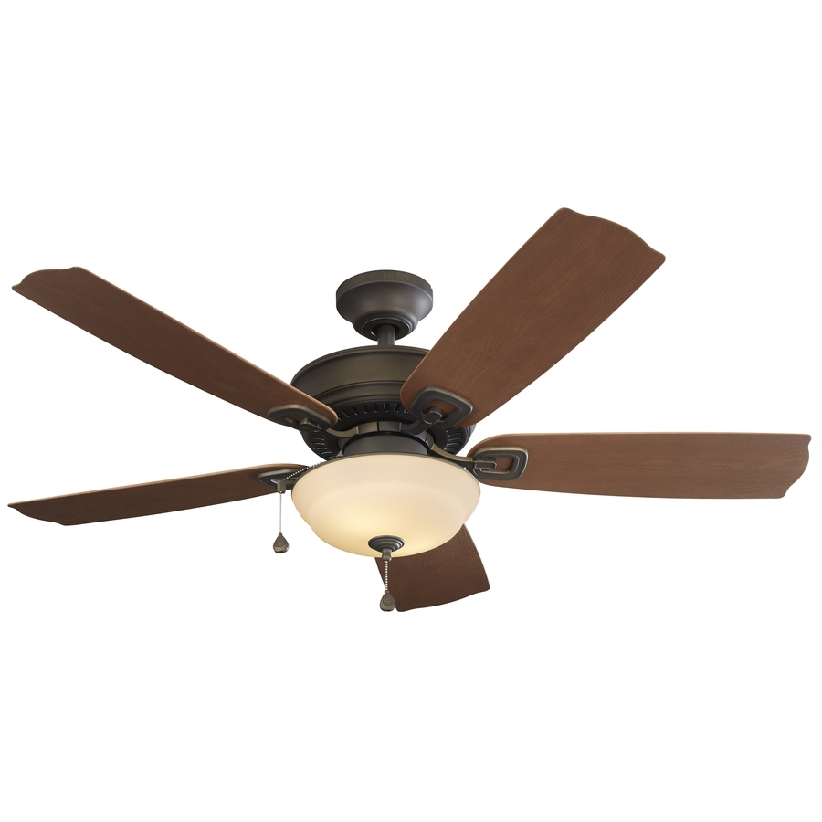 Shop Harbor Breeze Echolake 52 In Oil Rubbed Bronze Indoor/outdoor With Outdoor Ceiling Fans Lights At Lowes (#9 of 15)